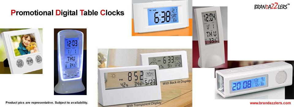 promotional digital table clocks