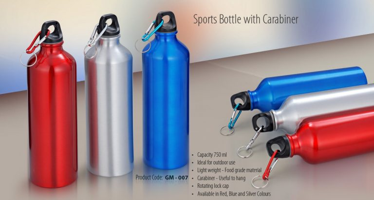 GM-007--SPORTS BOTTLE WITH CARABINER