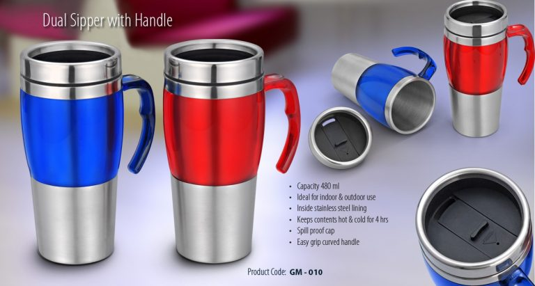 GM-010--DUAL SIPPER WITH HANDLE