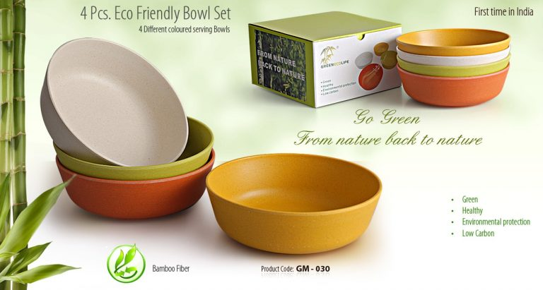 GM-030--4 PCS ECO FREINDLY BOWL SET