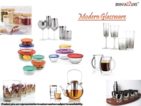 Modern Glassware as Corporate diwali gifts ideas