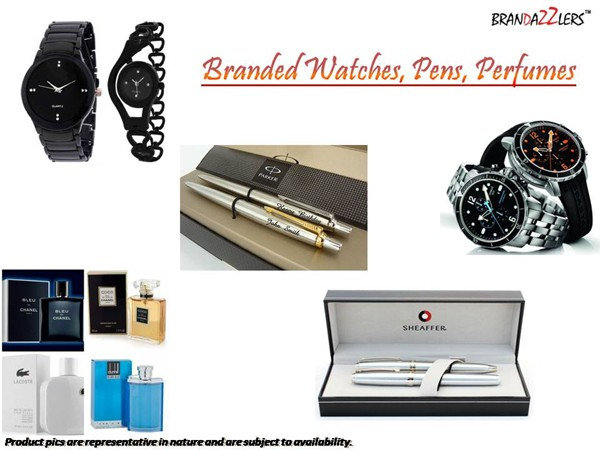 Branded Watches, Pens, Perfumes as Corporate diwali gifts ideas