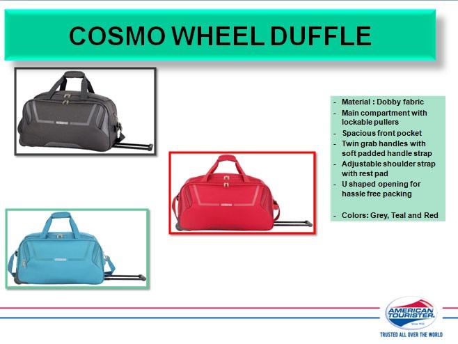 American Tourister bags - Duffle bags, Travel bags, Laptop bags, Backpacks suppliers, dealers, distributors, wholesalers