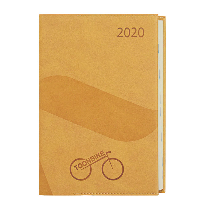 a5 size soft cover one dated promotional diaries corporate notebooks logo printed embossed diaries